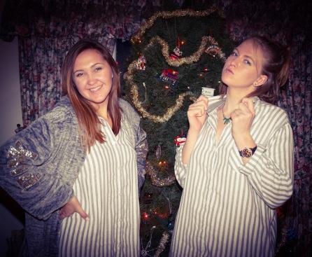 me and my sister on Christmas day.